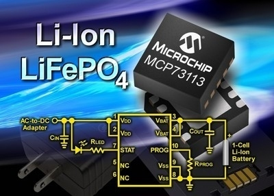 Caricabatterie per accumulatori a singola o doppia cella Li-Ion e LiFePO4