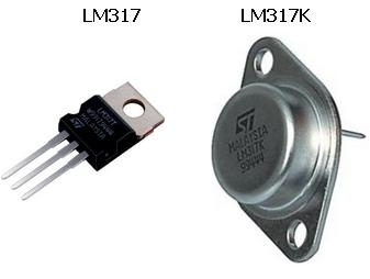 LM317K & LM317T package-contenitore