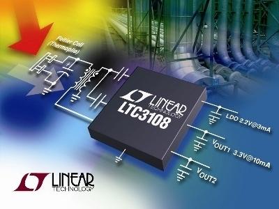 LTC3108 convertitore step-up a bassa tensione per applicazioni di energy harvesting
