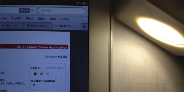 Comandare una luce a led con il tablet