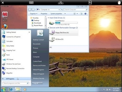 Mac OSX in esecuzione sull'iPad! Con Flash!