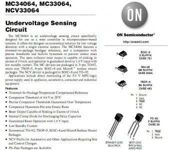 MC34064 Reset e rilevamento sottotensione