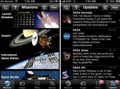 Nuova applicazione Nasa per iPad