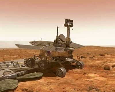 Il Rover della Nasa Spirit in missione su Marte