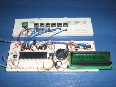 orologio digitale con RTC