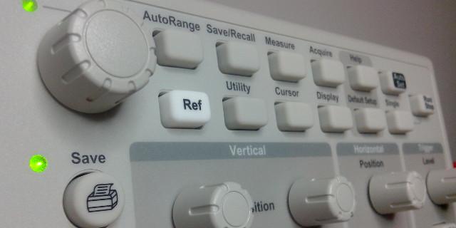 Pannello oscilloscopio