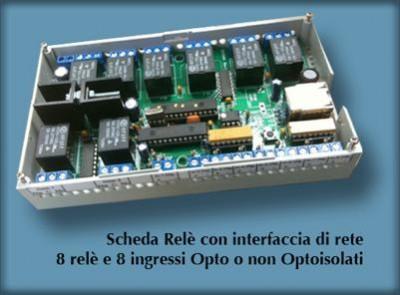 Scheda relè I/O con connessione ethernet web server