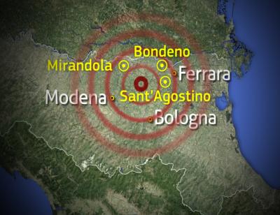 Causa del terremoto in Emilia Romagna