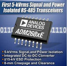 Nuovi trasmettitori dati 5-kVrms RS-485 da Analog Devices