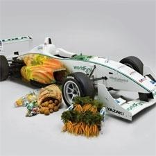 la WorldFirst, la prima macchina da corsa fatta con materiali riciclati
